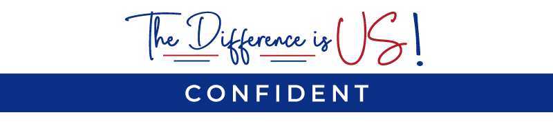 the difference is us confident