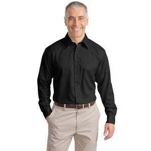 Port Authority® Adult Long Sleeve Non-Iron Twill Shirt