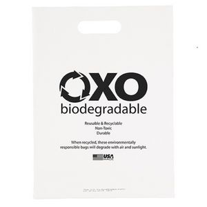 "Oxo-Biodegradable Die Cut Bag (11""x15"")"