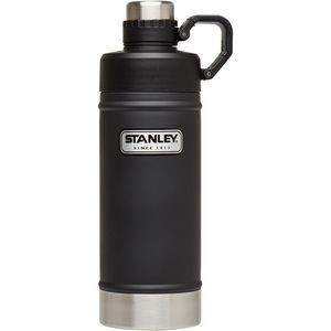 Stanley Classic Vacuum Water Bottle, 18 oz., Matte Black