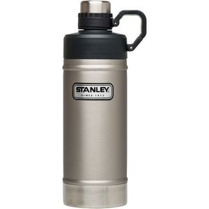 Stanley Classic Vacuum Water Bottle, 18 oz., Stainless Steel