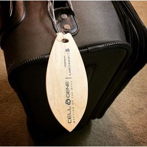 "2.25"" x 5.5"" - Wood Veneer Surfboard Luggage Tags - Color Printed - USA-Made"