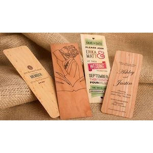 "1"" x 4"" - Wood Veneer Bookmarks - 1 Sided Color Print - USA-Made"
