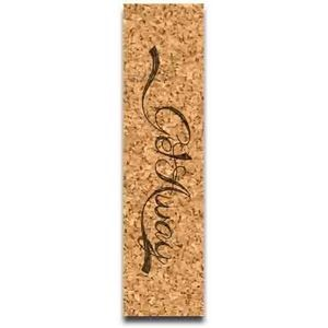 "1.5"" x 5.75"" - Promotional Cork Bookmarks - Color Print - USA-Made"
