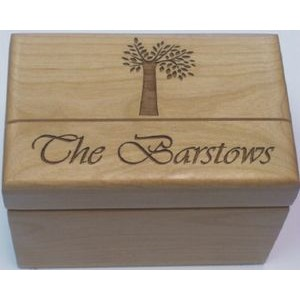 "6"" x 8.25"" -Wood Box - Keepsake or Gift - Laser Engraved - USA-Made"