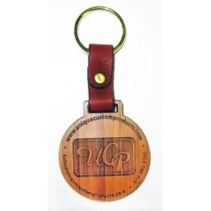 "2"" x 2"" - Hardwood Keychains - Laser Engraved - USA-Made"