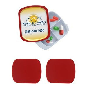 4 Compartment Pill Box - Full Color