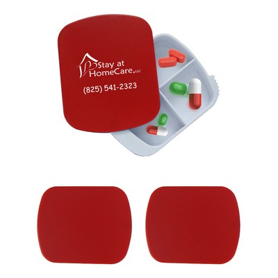4 Compartment Sliding Pill Case - One Color
