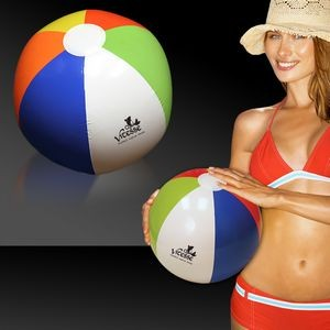 "16"" Inflatable Rainbow Beach Ball"