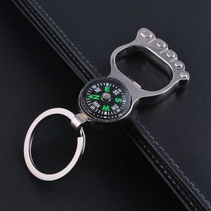 Foot Shaped Bottle Opener Compass Key Chain
