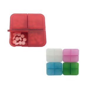 4 Compartment Plastic Pill Organizer Box