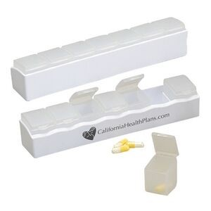 7 Day Organizer Pillbox w/Removable Compartments
