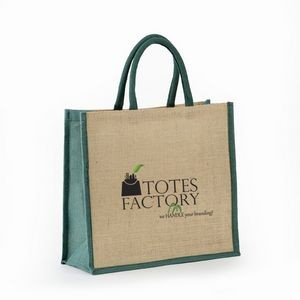 Jute - All Natural Burlap Grocery Tote With Rope Handles