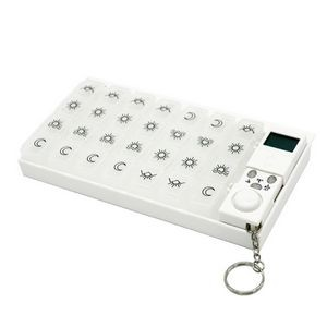 28 Grid 7 Day Pill Box with Alarm Clock