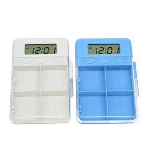 4 Compartments Electronic Pill Box with Alarm Timer