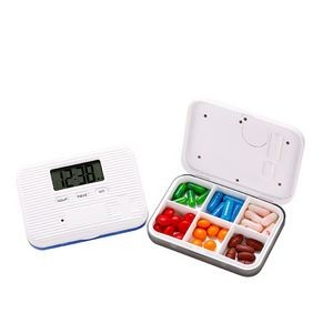 6 Compartments Digital Pill Box