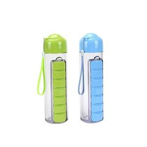 23 Ounce 7 Compartments Pill Box Water Bottle