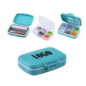 2-In-1 6 Compartments Pill Box And Cosmetic Case