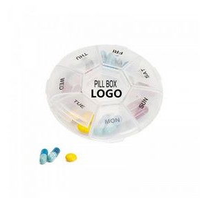 Plastic Pill Box Weekly Pill Organizer 7 Day Medication Pill Box Case