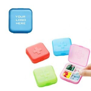 Cross Pill Case Tablet Box