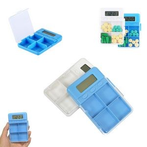 4 Compartments Pill Case With Alarm Reminder