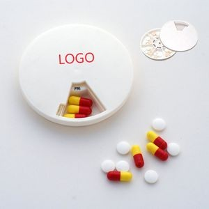 7 Day Round Pill Case Tablet Box