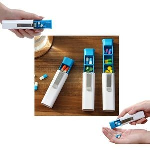 Pen Shape Pill Case Tablet Box Wit Clip