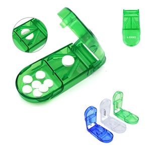 Portable Pill Cutter Splitter Case Pill Box