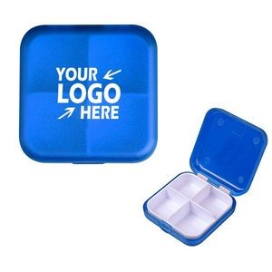 4 Compartment Square Foldable Pill Box