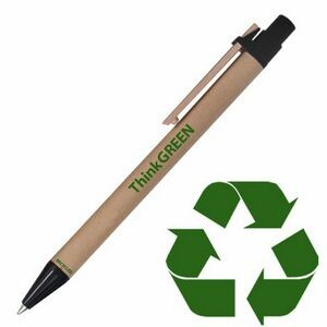 Original Eco Friendly Recycled Paper Pen w/ Black Trim
