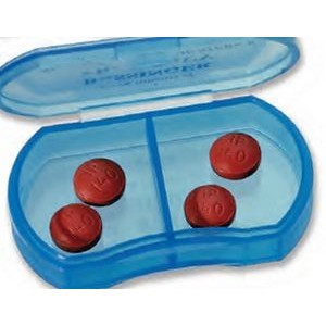 Oblong 2-Compartment Pill Box