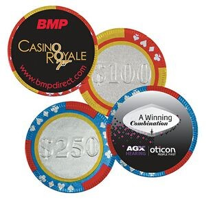 Poker Chip w/Label