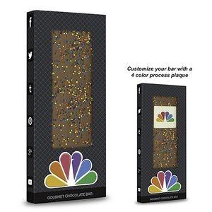 Belgian Chocolate Bar w/ Corporate Color Sprinkles (3.5 Oz.)