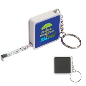 Square Tape Measure Key Tag