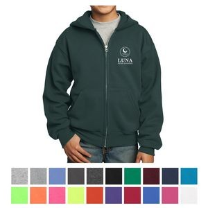 Port & Company® Youth Core Fleece Full-Zip Hooded Sweatshirt