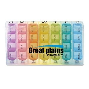 Rainbow Spring Loaded 7-Day Pill Box