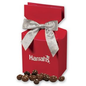 Chocolate Covered Peanuts in Red Gift Box