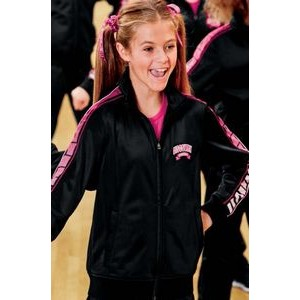 Sport-Tek® Youth Dot Sublimation Tricot Track Jackets