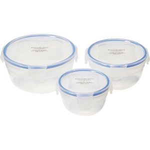 6pc Locking Round Storage Container Set