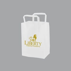 "Clear Film Frosted Tri-Fold Handle Shopping Bag (8""x5""x10"")"