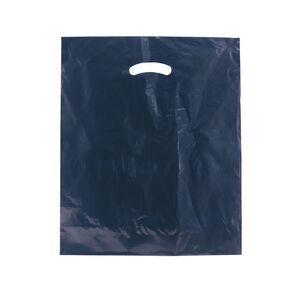 "Color Super Gloss Die Cut Handle Plastic Bag (15""x18""x4"")"