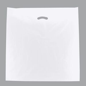 "White Super Gloss Die Cut Handle Plastic Bag (24""x24""x5"")"