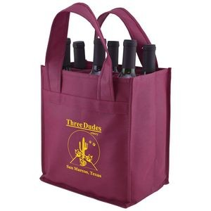 "Versatile 6-Bottle Wine Bag (10""x7""x11"")"