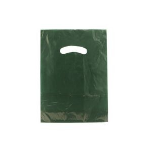 "Color Super Gloss Die Cut Handle Plastic Bag (9""x12"")"