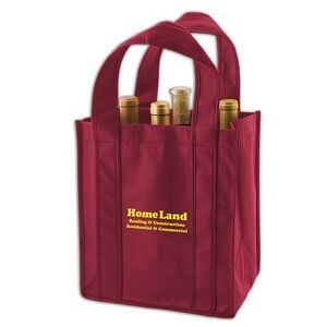 "Premium Non-Woven Polypropylene 6-Bottle Wine Tote Bag (10""x7""x11"")"