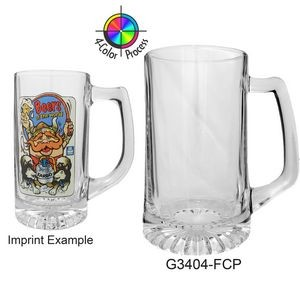 25 Oz. Clear Glass Sport Beer Mug (4 Color Process)