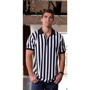Men's Referee Shirt with Zipper and Collar
