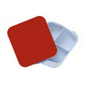 Pill Box - Four Compartment - Red/White