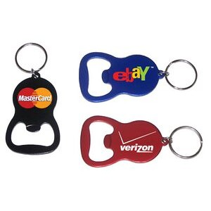 Round Bell Shape Plain Bottle Opener with Key Ring