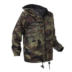 Kids' Woodland Camo Reversible Fleece-Lined Nylon Jacket w/Hood
